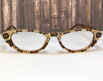Swarovski Crystal Readers Reading Glasses  +1.75 +3.50
