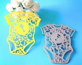 Craft Metal Baby Clothes Die Cutter Set Cardmaking Scrapbooking Newborn Baby Shower Baby Birthday Cutting Dies DC1225