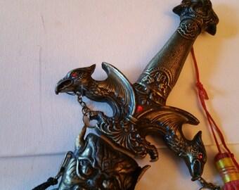 Large decorative swords, great details in metal work