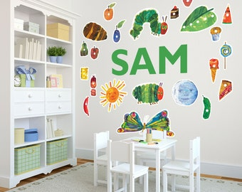 Life Size The Very Hungry Caterpillar™ Personalized Name Wall Decals For  Kids Bedroom Walls, Part 16