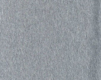Heather Gray Cotton Spandex Jersey Knit fabric 12oz