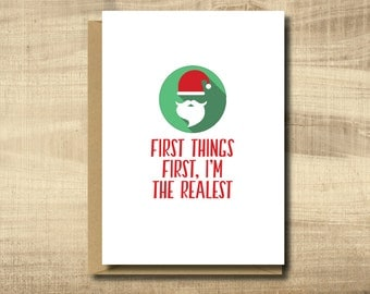 Printable Christmas Card -- Make Your Own Cards at Home, Instant Download, Digital Download, Funny Christmas Card, Christmas Party Invite