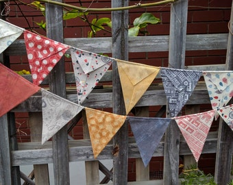 Bunting, flags or banner for child's bedroom, garden, birthday in Mon Ami fabrics by Moda - snippets of France