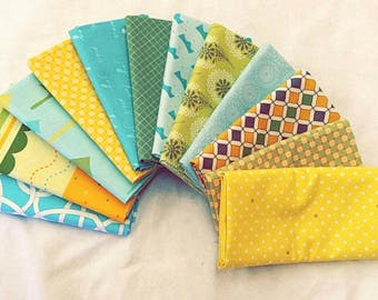 Fabric 10 Fat Quarters Bundle