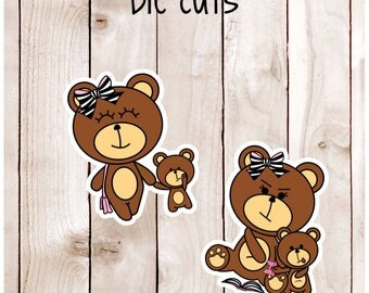 CoCo & Baby Bear Card Stock Die Cuts DC 006