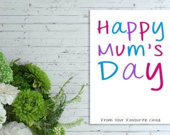 Funny Mothers's Day Card, Rude/Funny Mothers Day, Funny card, Card