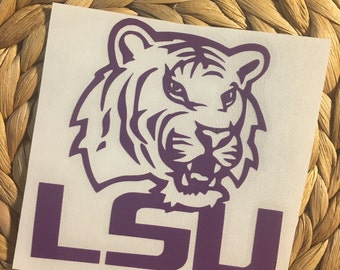 LSU Tigers Vinyl Decal