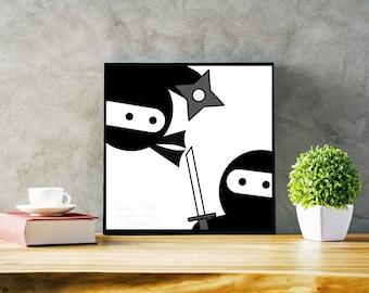 Ninja Showdown Print