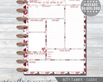 HAPPY PLANNER PRINTABLE Daily Planner Refills / Inserts - 7 x 9.25   Be Mine   Create 365   Me & My Big Ideas   mambi   Daily   Valentine