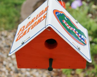 University of Florida Gators License Plate Birdhouse