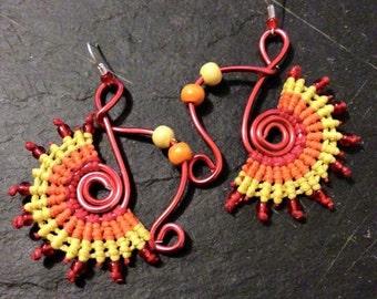GROUND macramé earrings