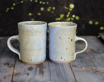 Ceramic blue mug, Handmade mug, Pottery mugs, Coffee mugs, Unique mugs, Pottery Capuccino mug, Coffee set, Unique tea mugs, Pottery mug set
