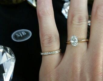 Diamond Solitaire, .90ct Oval Diamond Engagement Ring, 14k .90ct Oval Diamond Ring, Diamond Wedding Ring, Diamond Statement Ring, #SD451 Sz6