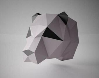 "DIY PAPER SCULPTURES  - ""Roki"" Panda / Bear Template"
