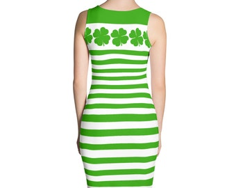 St. Patricks Day Dress - Saint Patricks Day Dress - Saint Paddys Day - Clover Dress - Green Dress - Irish Dress