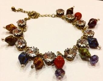 Festival Chunky Diamante Ankle Bracelet
