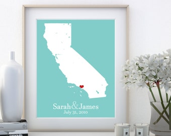 California Decor Wall California Wall Art California Wall Decor California Love Custom Wedding Signs Custom Anniversary Signs Personalized