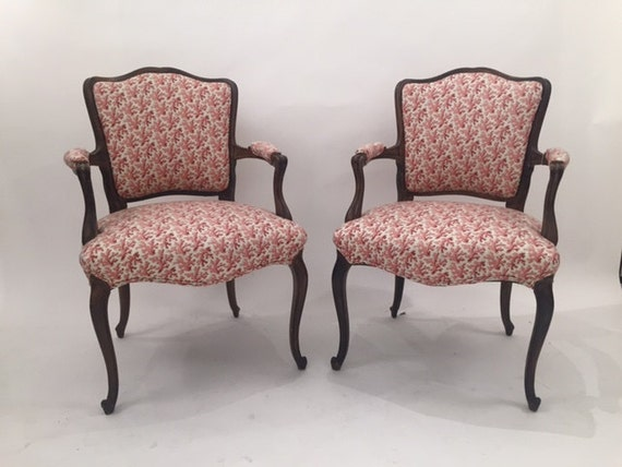 Antique Pair of French Arms Chairs