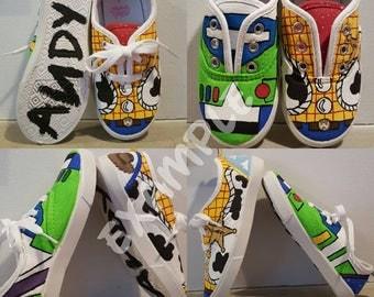 Custom painted kids shoes