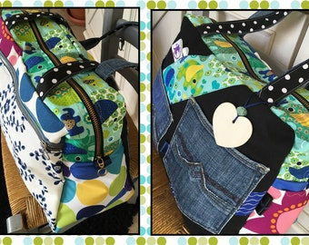 Large bag tote - bag * ME contact - on order only - fabric choices *.