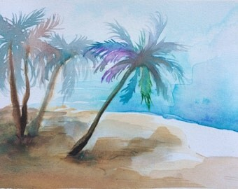 Beachy Escape - Watercolor Painting