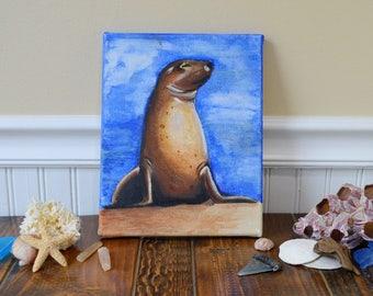 Sea Lion - Acrylic Painting
