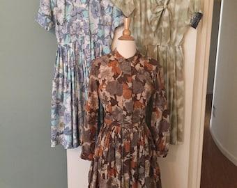 1950s 3 shirt dress lot