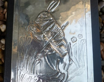 I'm Late, I'm Late Pewter White Rabbit Journal