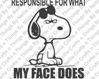 Responsible- Snoopy SVG