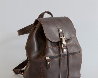 small leather backpack – Etsy