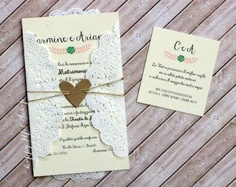 """Wedding card """"Brigitte"""""""