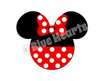 Minnie Mickey Head, Minnie Mickey Head SVG dxf pdf Studio, Mickey Head SVG dxf pdf Studio, Fab 5, Disney SVG dxf pdf Studio, Minnie Head