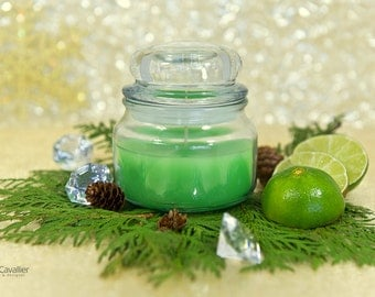 Lime Jar Candle, Scented Christmas Candle, Christmas Gift, Essencial Lime Oil, Scented Jar Candle, Christmas Candle, Decor, Unique Gift