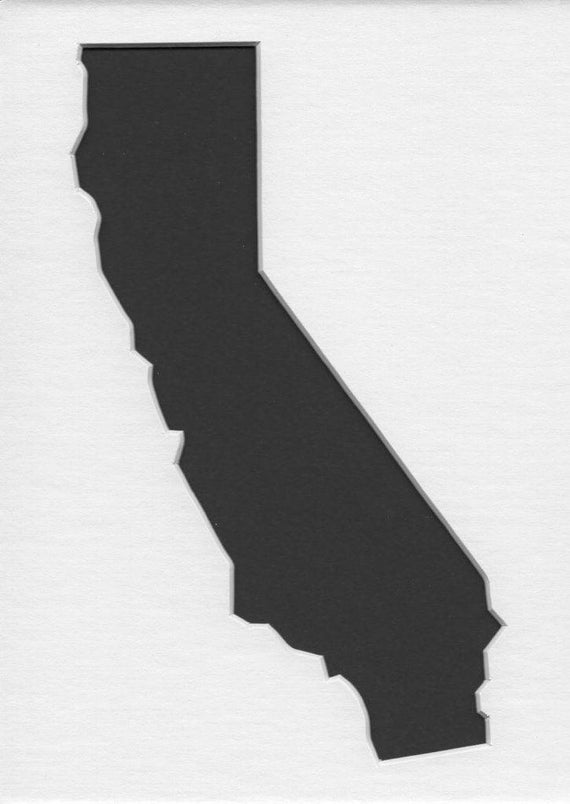 Pack Of 3 California State Stencils Made From 4 Ply Mat