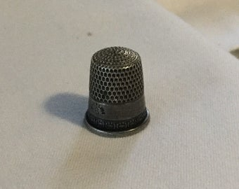 Vintage Sterling Silver Thimble #6