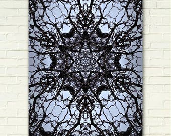 Art Print on Metal: RAVENNAS TOWER, abstract art, gothic art, contemporary art, fantasy art, kaleidoscope, stained glass, cathedral art