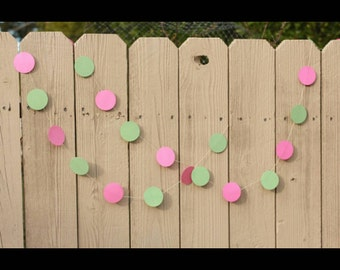 SHIMMERING CIRCLES GARLAND 10feet--Any Size--Any Color--2.5x2.5 Circles--First Birthday--Photoshoot Background