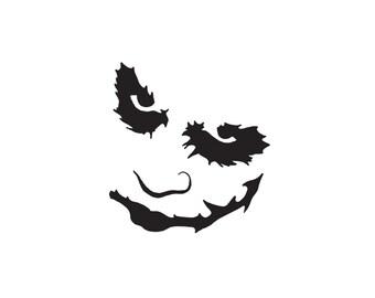 Joker Decal - The Joker, Harley Quinn, Suicide Squad, Laptop Sticker, Joker Car Sticker