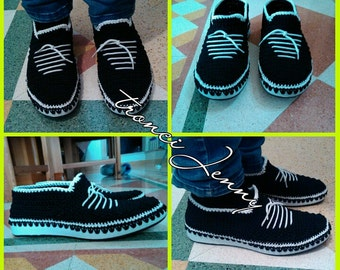 mens shoes crochet work with lanyard thay, shiny resistant, fake laces, available in size 41 Italy = 28 cm foot lenght