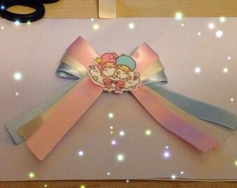 Little Twin Stars Marshmallow Bow, Pastel Kei, Fairy Kei, Sweet Lolita, Harajuku etc inspired