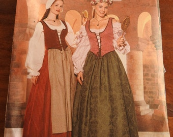 Butterick 6196 Women's Medieval Costume Outfits Sewing Pattern