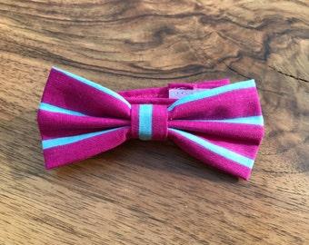 Boys Bow tie - Purple Stripe - Bow tie for boys - baby bow tie - Wedding bowtie - Boys 1st Birthday bow tie - Kids Bow Ties