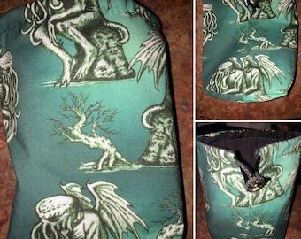 Cthulhu Dice Bag, coin purse, drawstring bag, gaming, H.P. Lovecraft