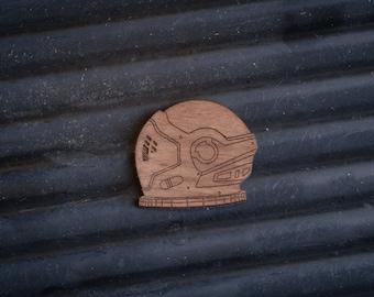 Astronaut Helmet Pin Badge