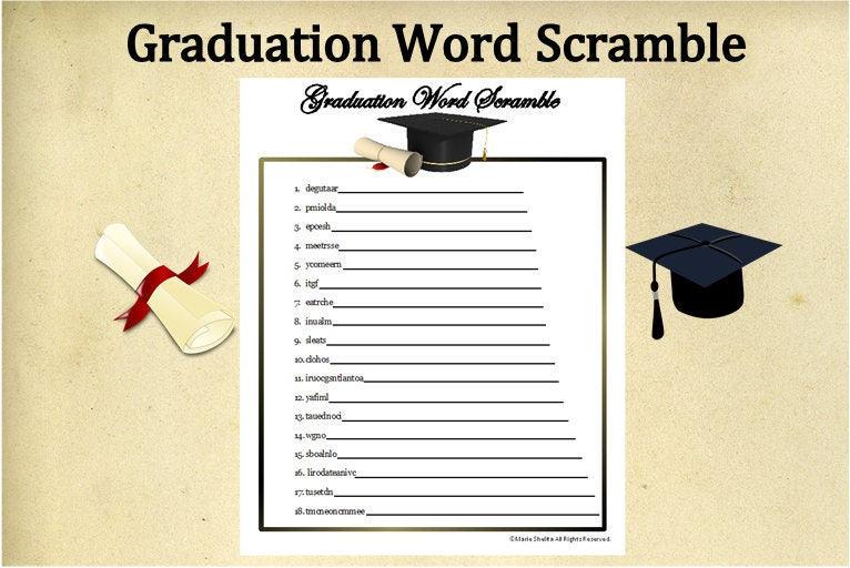 Accomplished image within free printable graduation party games