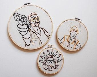 Big Lebowski Embroidery Hoop