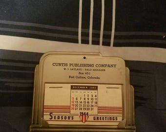 Curtis publishing company 1943 mini calendar