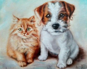 Little Friends Oil Painting Animals