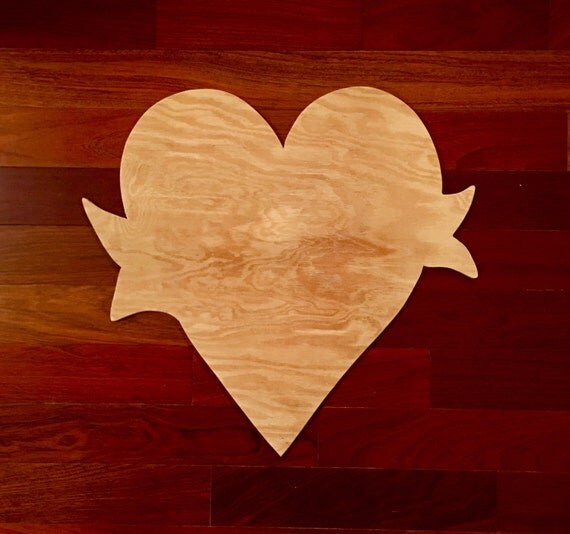 Heart With Sash Wood Blank Diy Blank Valentine Door