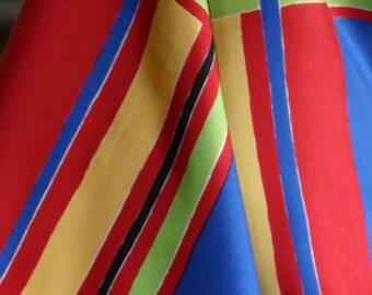 Ladies silk scarf, Italian designer, Azner Reli Imola, pop art, retro, vintage, 1960s, luxury